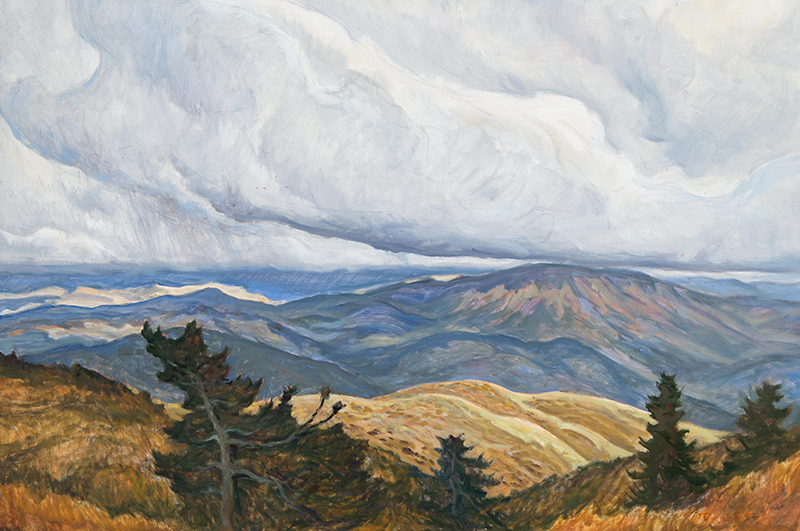 Ray Strong,  Snow Stormclouds , oil, 24×36 in.