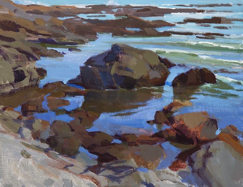 "Marcia Burtt, ""Slack Tide,"" acrylic, 14x18 in."