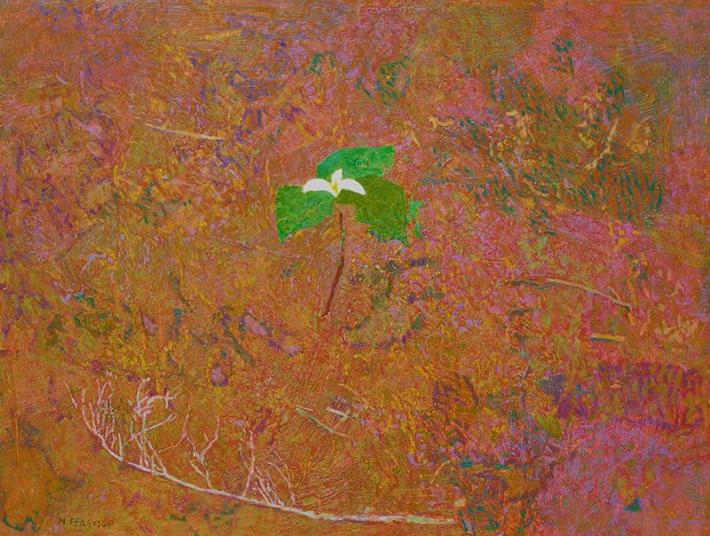"""Michael Ferguson, """"Trilium,"""" acrylic, 25×33 in."""