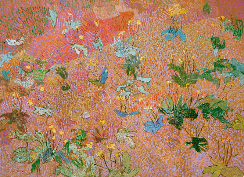 "Michael Ferguson, ""Dandelions,"" acrylic, 31×43 inches"