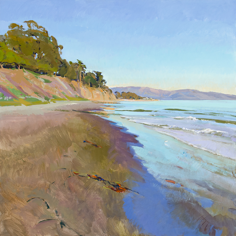 "Marcia Burtt, ""East Beach"", acrylic, 40×40 inches"