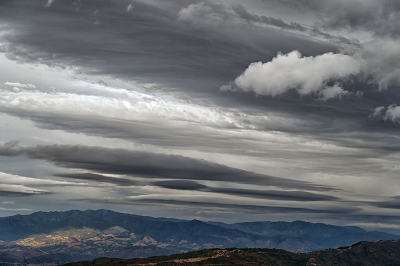 Lenticulars over Camino Cielo