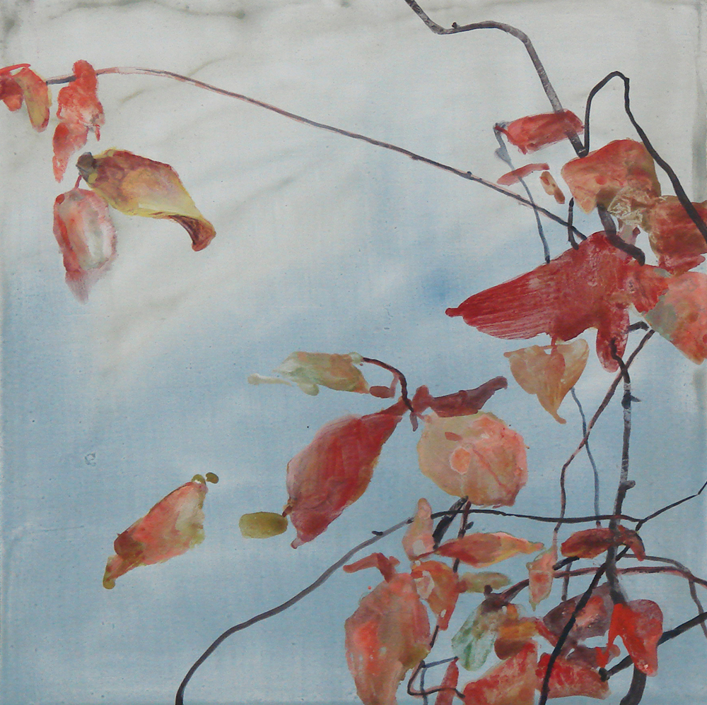 Randall David Tipton,  November Leaves,  watercolor ,  12x12 in.