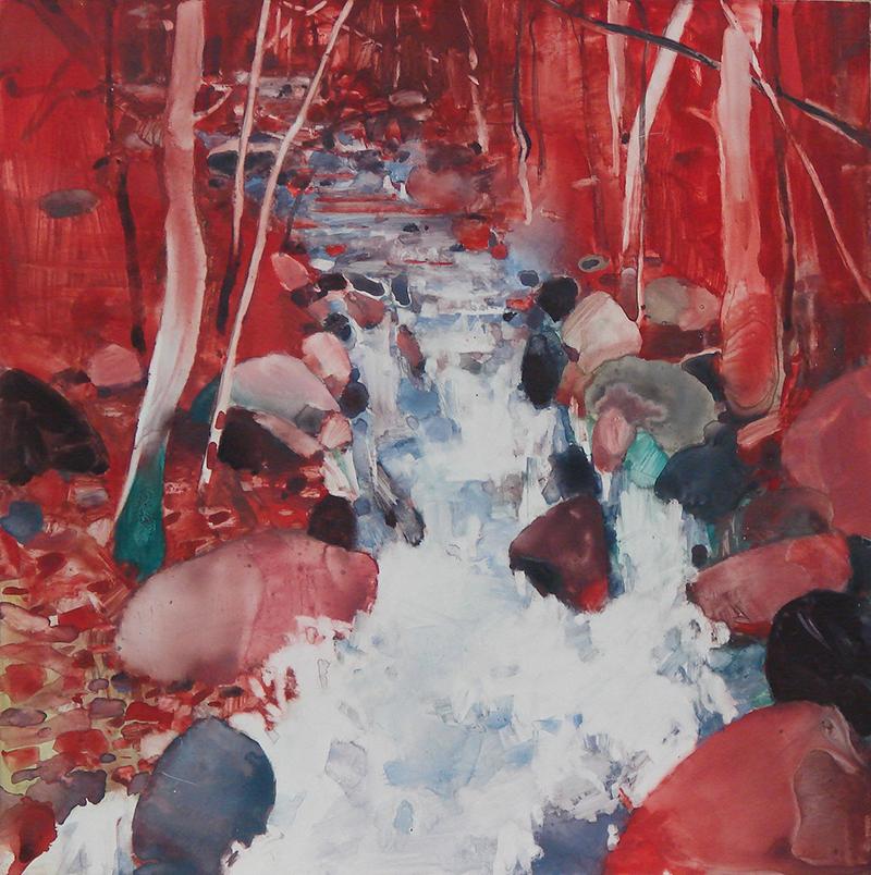 tipton-Red Creek watercolor on Yupo 12x12 $425 .jpg