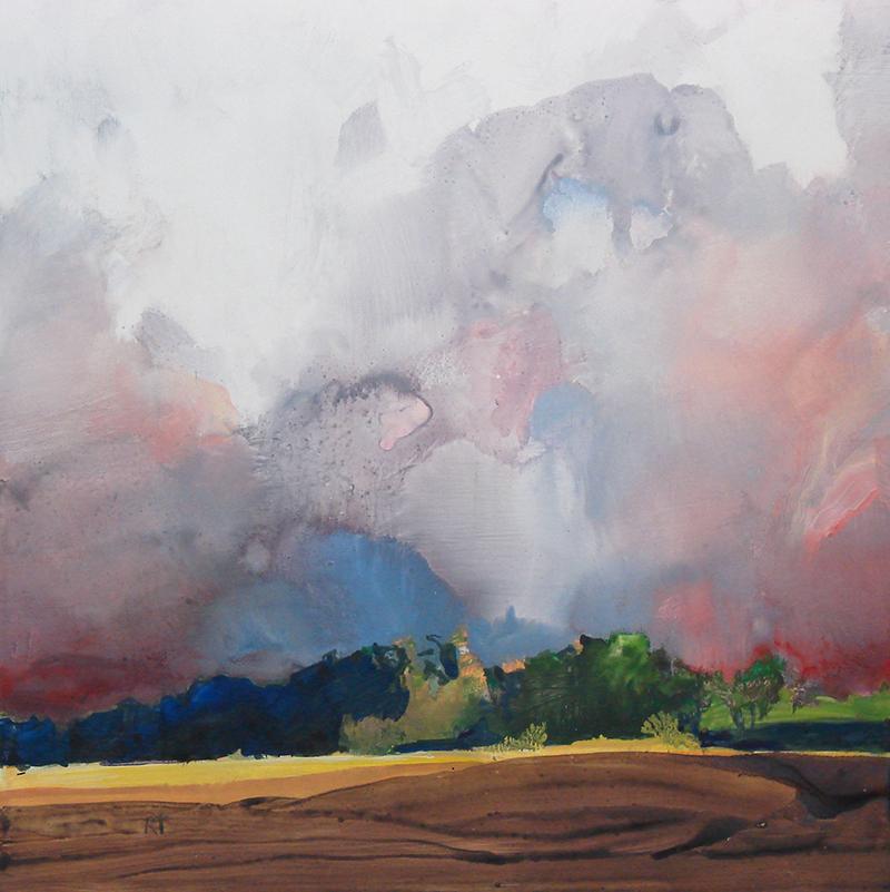 """""""Storm Break,"""" watermedia on Yupo paper, 16x16 in."""
