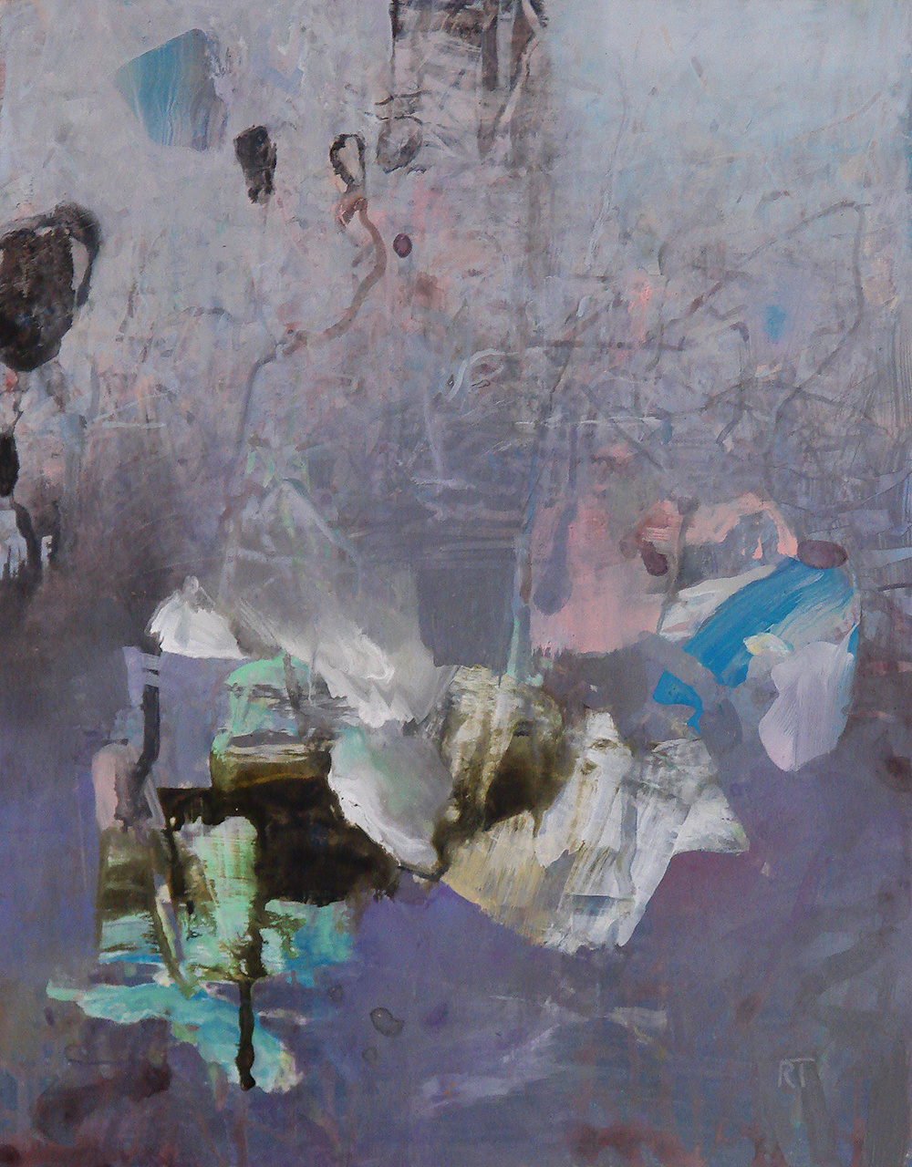 - Tipton's landscapes and methods are deconstructed even further in his abstract works. The joy of playing with paint--gestures of line, splotches, and washes capturing the atmosphere of a day's walk through the woods--invest studio creations with lived experience.