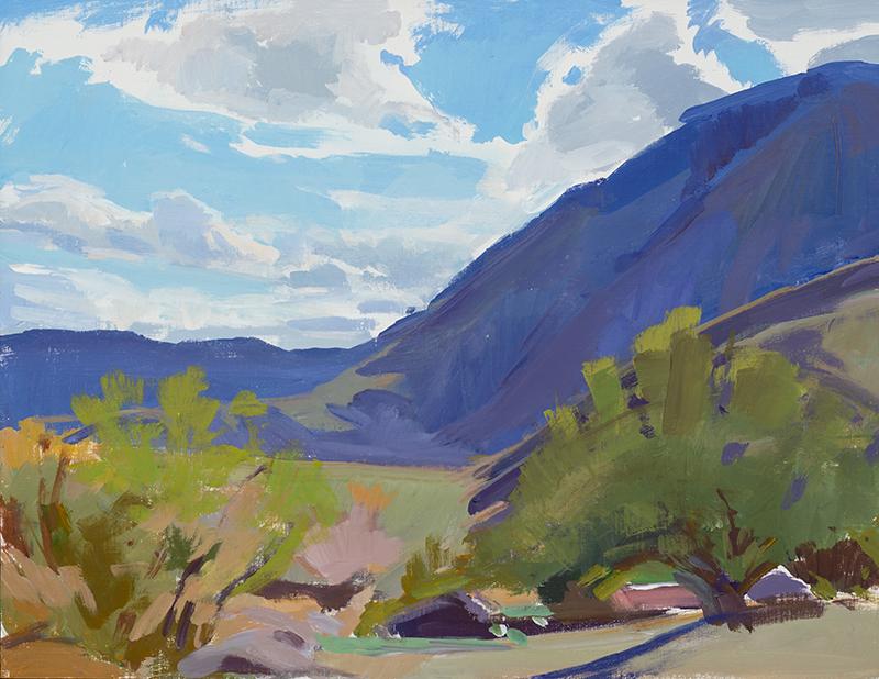 Marcia Burtt,  Spring Sky, Borrego,  acrylic, 14x18 in.