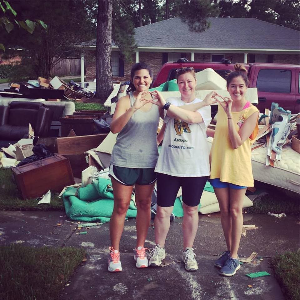 MEMBER ASSISTANCE - With the Great Flood of 2016, several of Alpha Psi's members lives were greatly affected. The Phi Mu Foundation emergency grants provided them with help that they so desperately needed.