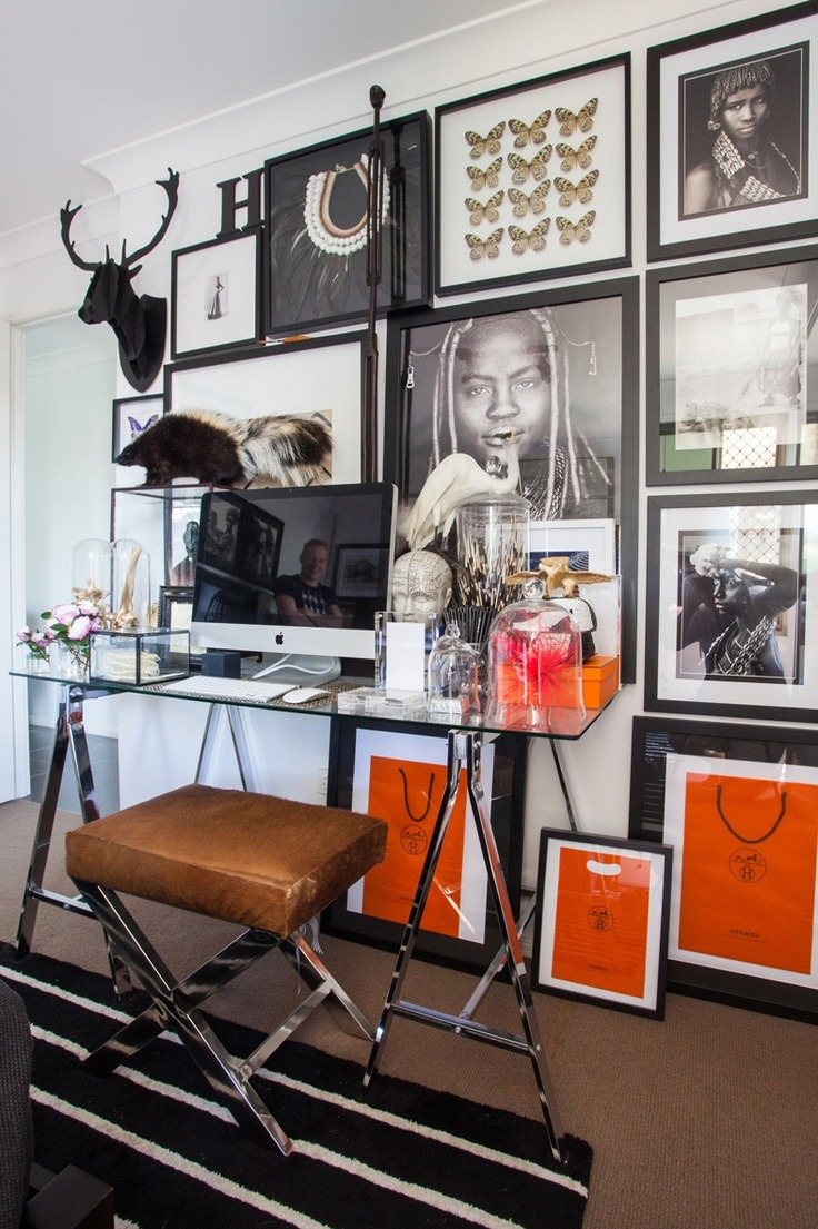 Chic Office Space via Zoe Report