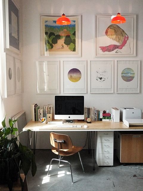 Chic Home Office via The Tao Dana