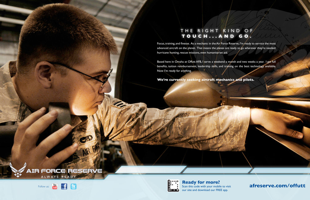 Air Force Reserve Branding Ad - Mechanic