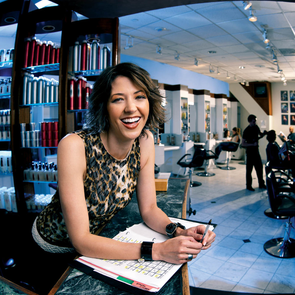 Visa Small Business Marketing Photography Hair Salon