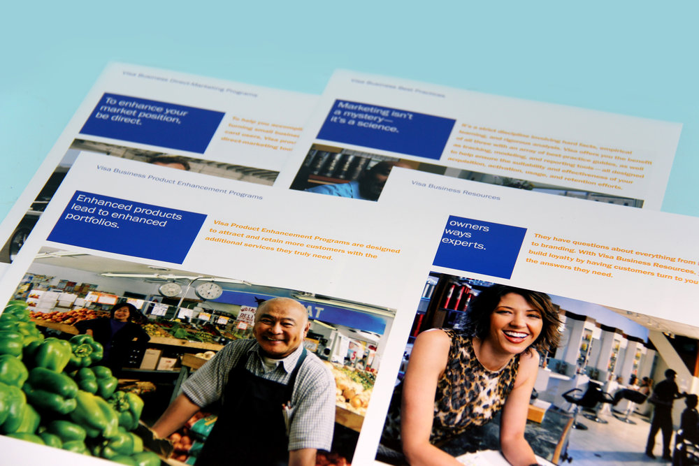 Visa Small Business Marketing Brochure Inserts