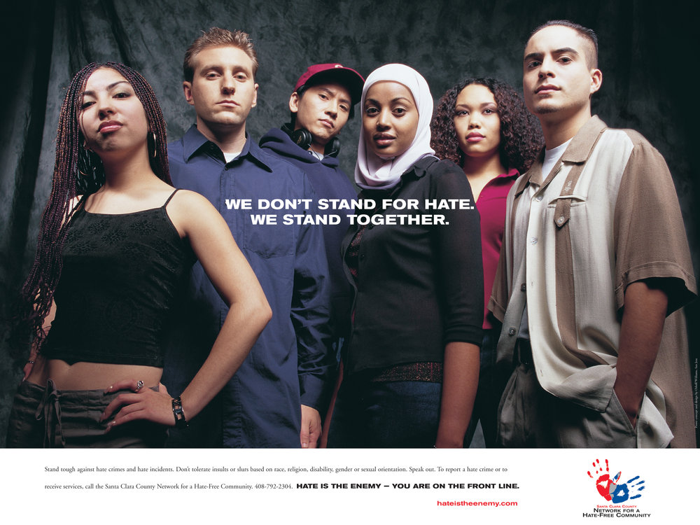 Santa Clara County Anti Hate PSA Poster