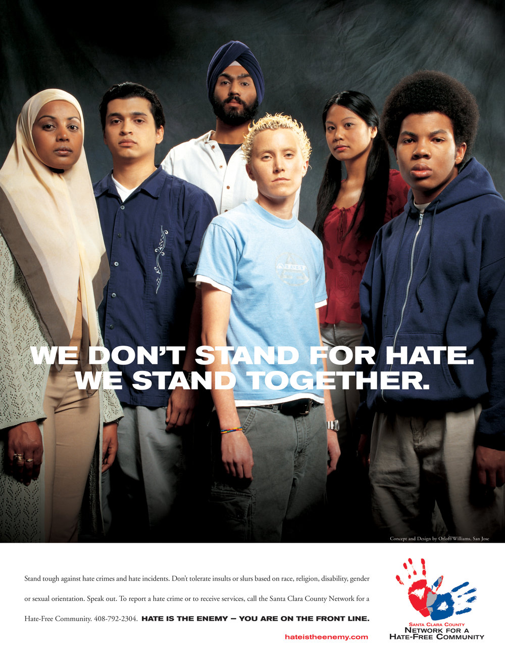 Santa Clara County Anti Hate Full page Print Ad