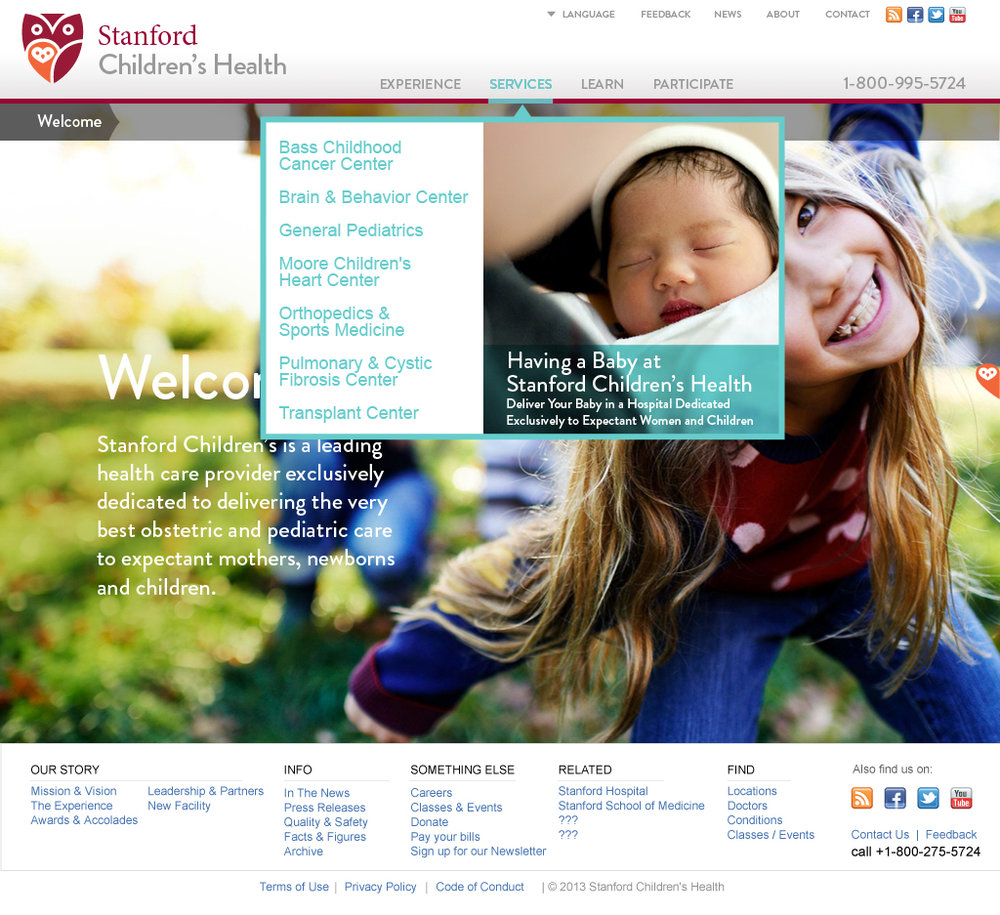 Stanford Children's Health Website Promotions