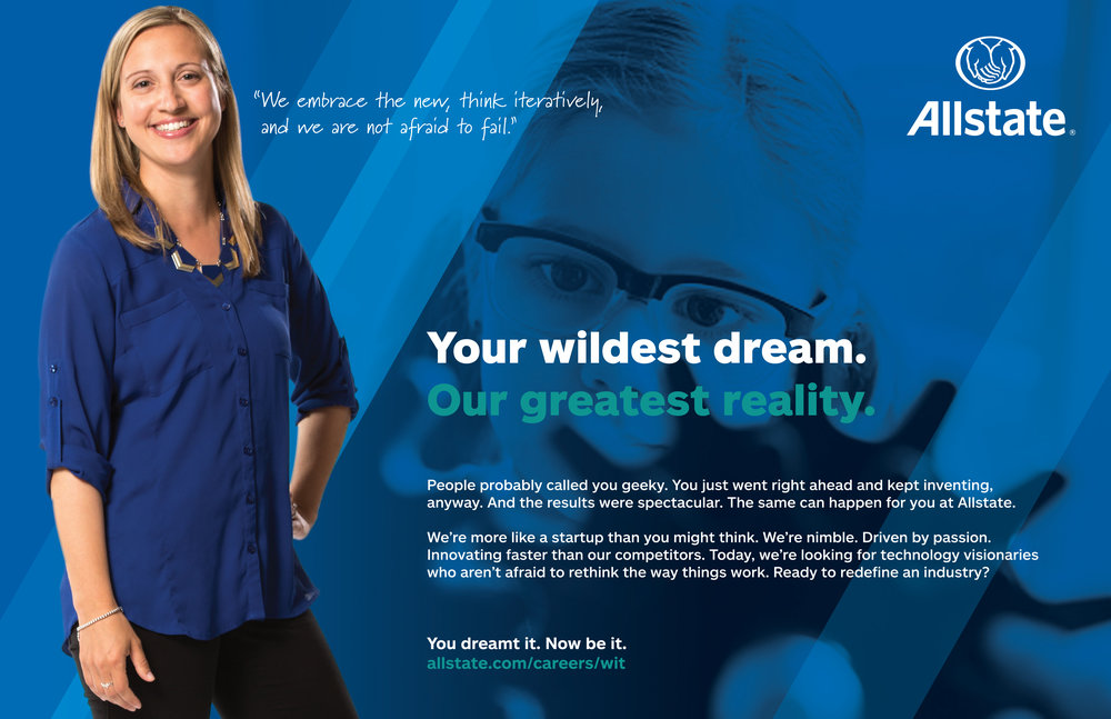 Allstate Women in Tech Grace Hopper Event Advertising
