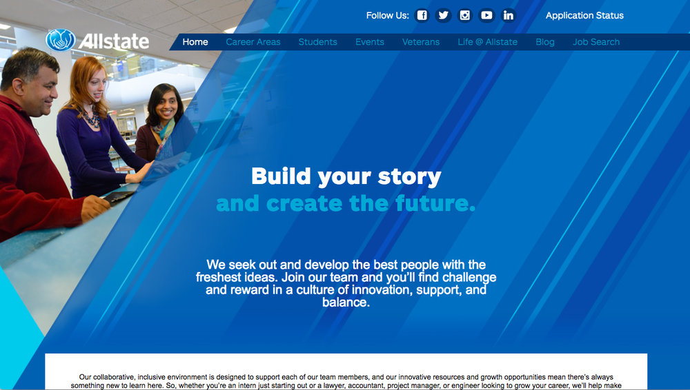 Allstate Women in Tech Website