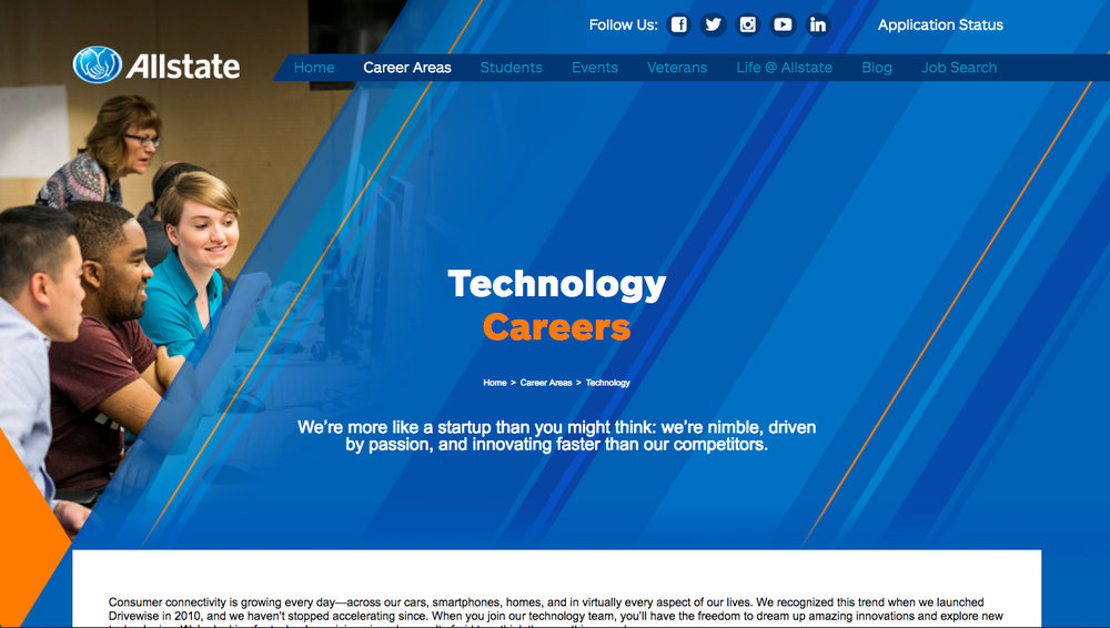 Allstate Women in Technology Website