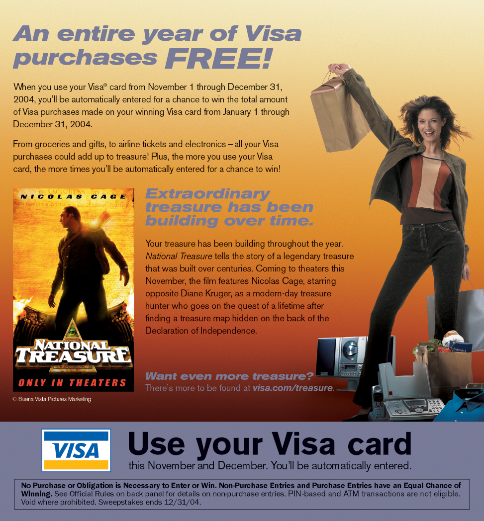 Visa Direct Marketing Bill Stuffer Inside