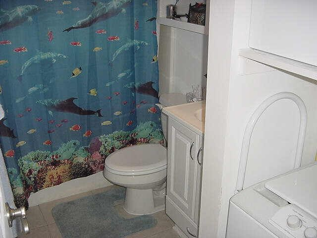 UPDATED BATHROOM WITH SHOWER /TUB AND ADJOINING WASHER / DRYER