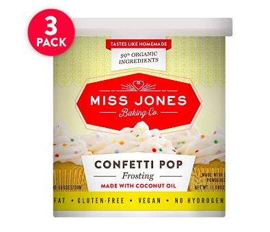 Miss Jones Dye Free Funfetti Frosting