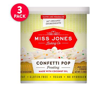 Miss Jones Dye Free Funfetti Frosting