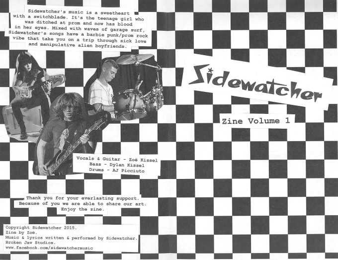 ZOE KISSEL BLOG WRITING MUSIC ON MONDAYS I LISTEN TO SIDEWATCHER ZINE VOLUME 1