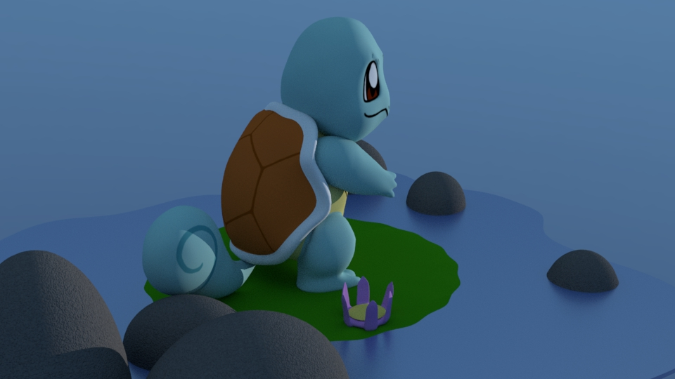 Zoe Kissel Blog Writing In Filmic Terms 3d modeling squirtle