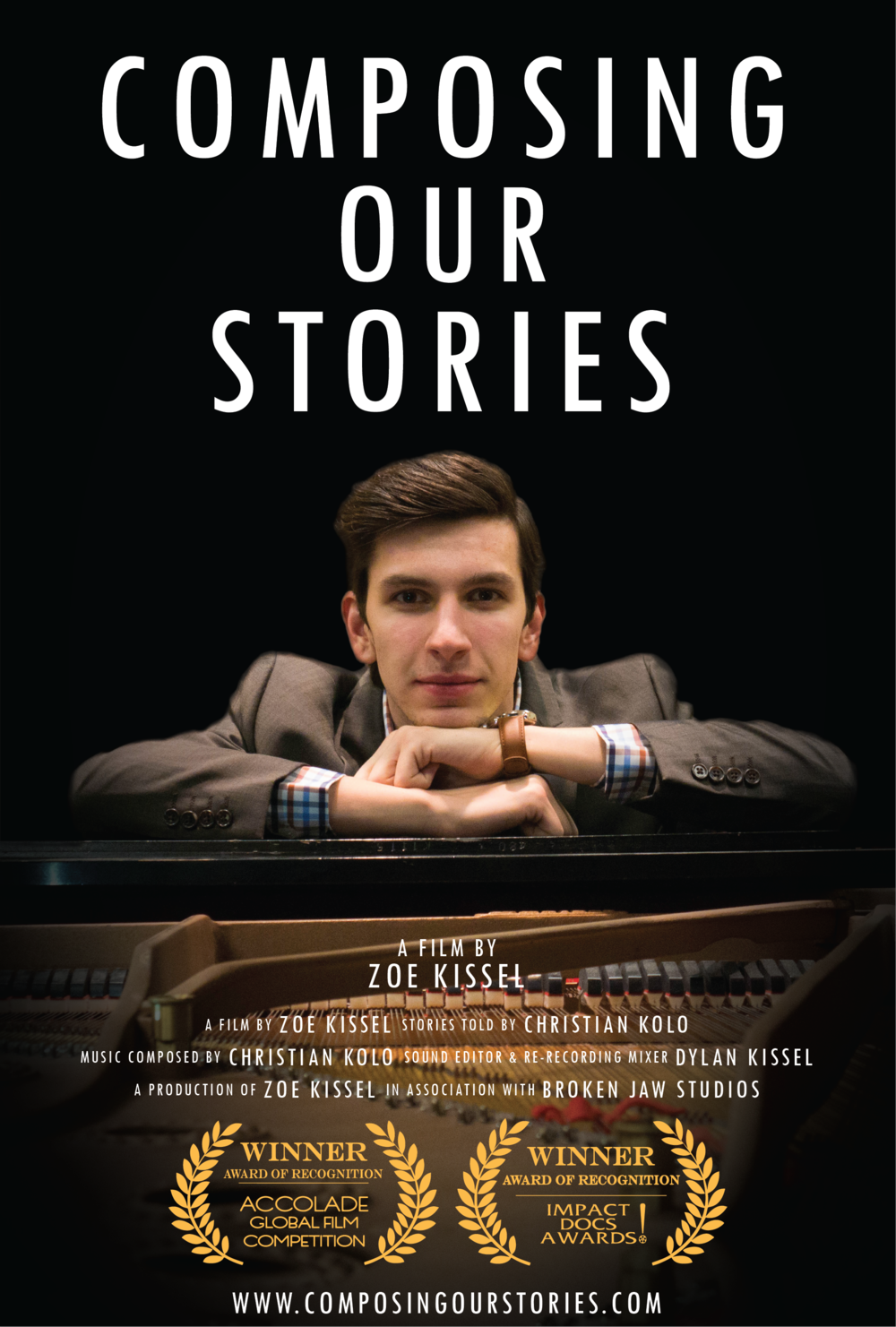 composing our stories zoe kissel film poster christian kolo composer