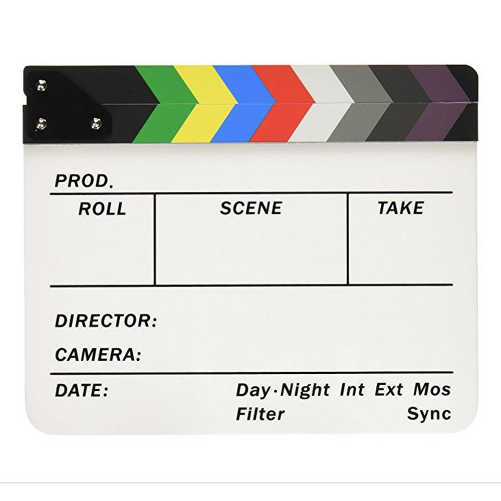 Neweer Clapper Board Slate with Color Sticks.JPG