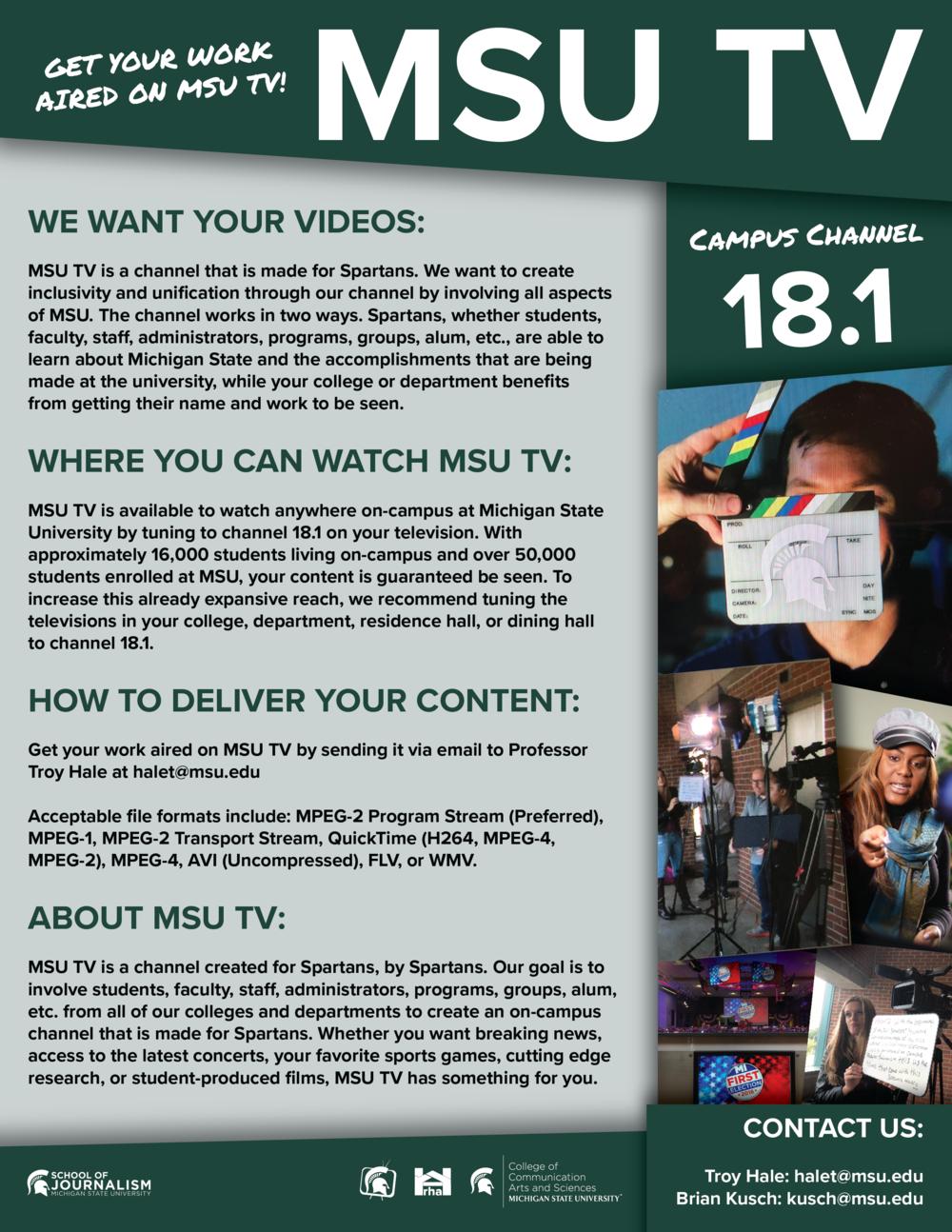 MSU TV Faculty Flyer.png