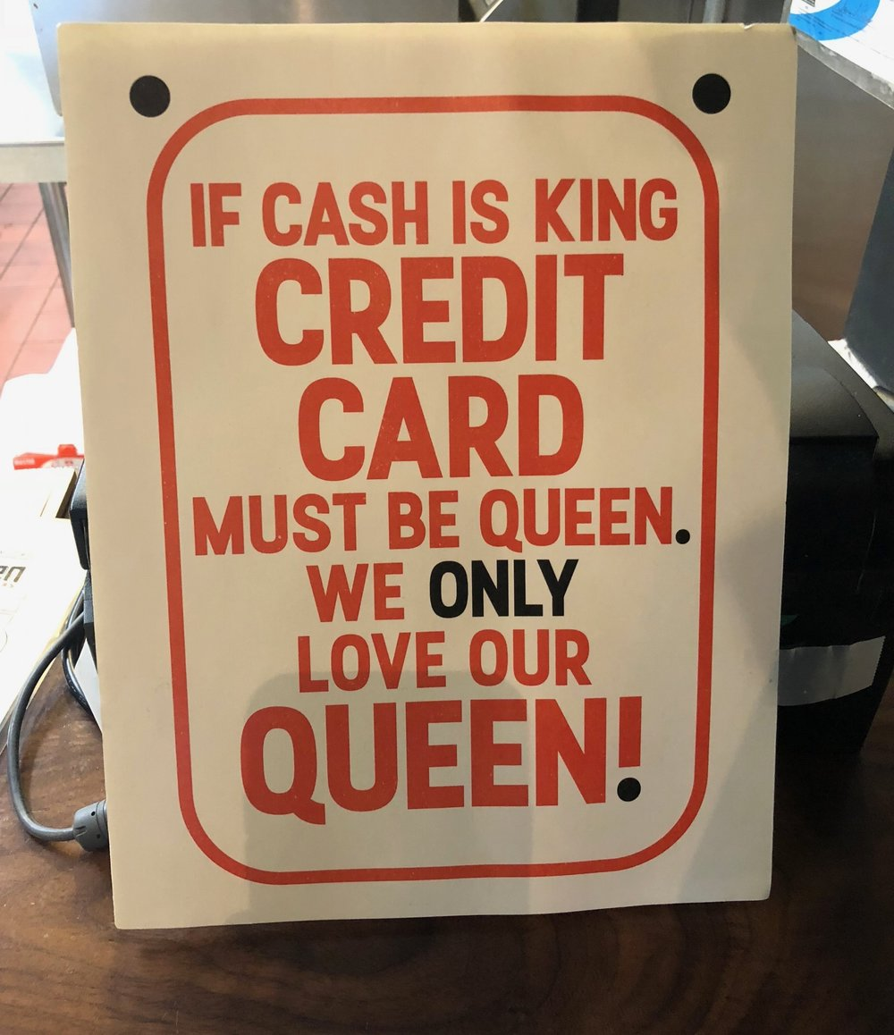- Important to know – they are card only. No cash is accepted!