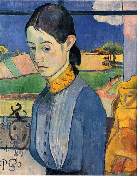 Young Breton Woman. Paul Gauguin.
