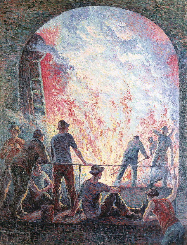 The Steelworks. Maximilien Luce. Scientists have long been alienated from the results of their labour. Until we have direct say in the dissemination of our work, we will remain ensnared by for-profit, vanity publishers, who do not value the interests of scientists or the public.