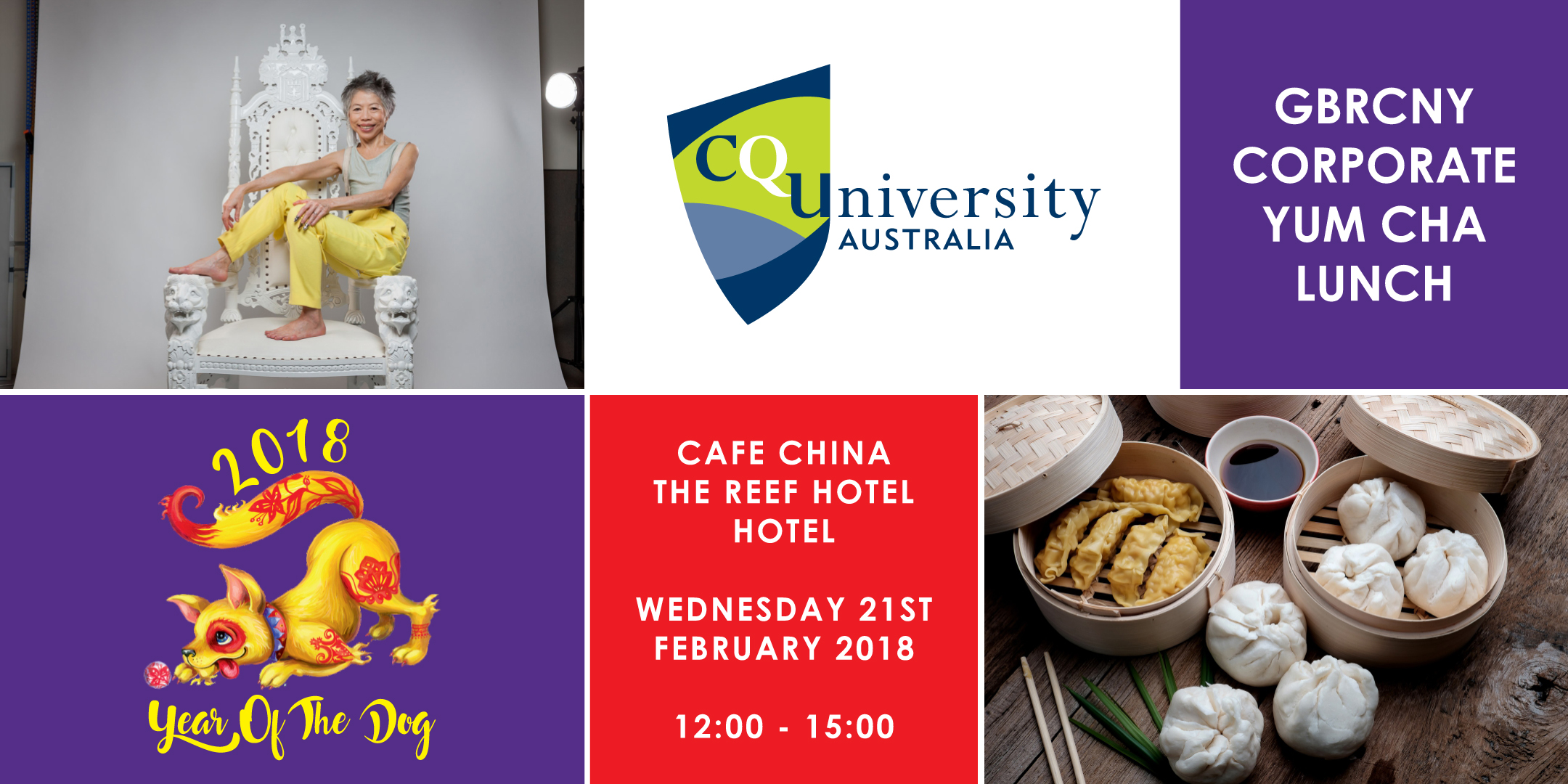 cquniversity corporate yum cha lunch