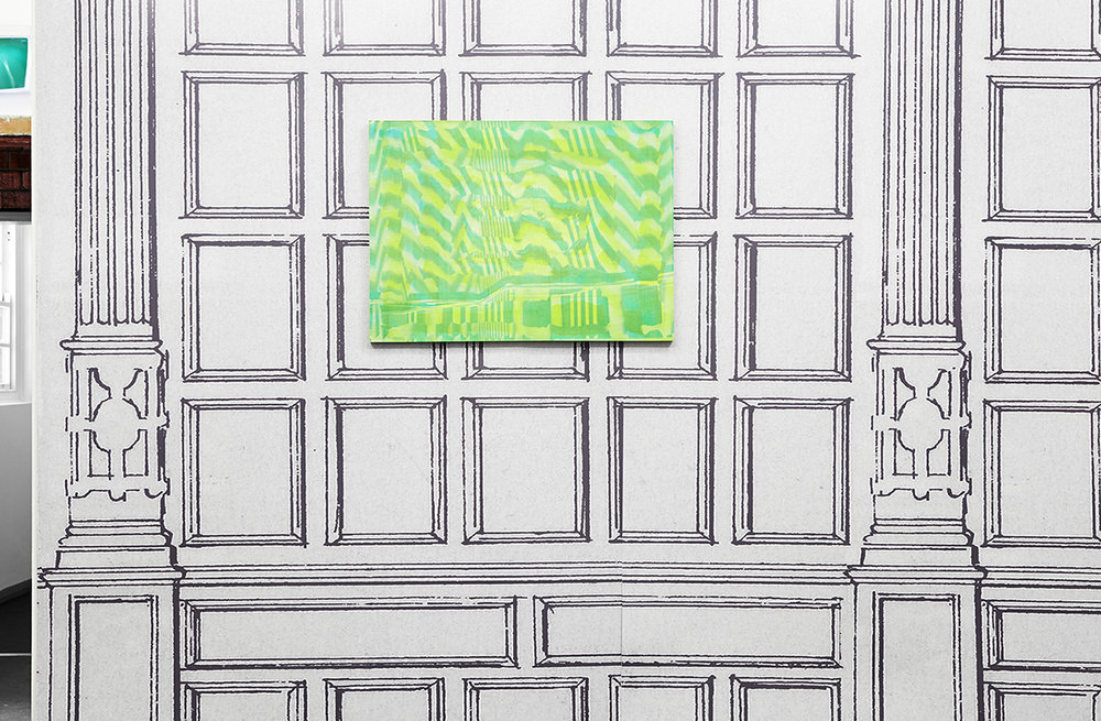 Graham McDougal and Elizabeth Corkery, the Modern Interior  at  Firstdraft , installation view, silkscreen ink and acrylic on panel inkjet print on paper, dimensions variable, 2014
