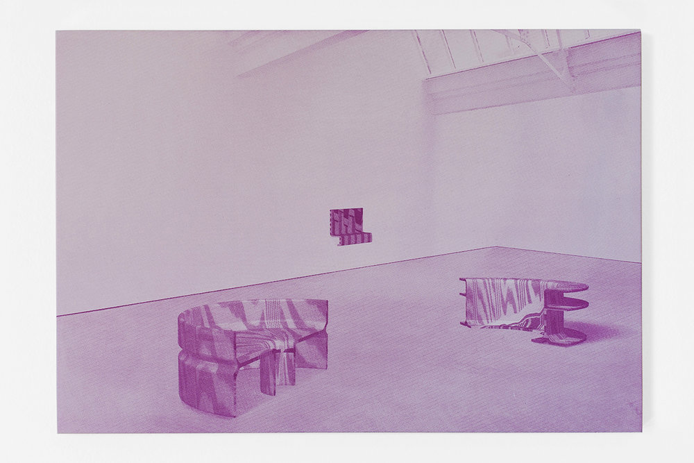 Graham McDougal and Elizabeth Corkery, the Modern Interior  at  Firstdraft ,  Interior,  silkscreen and acrylic on panel, 11 x 16.75 inches, 2014