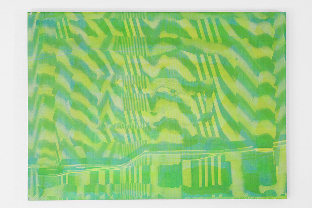Graham McDougal and Elizabeth Corkery, the Modern Interior  at  Firstdraft ,  Covering , silkscreen ink and acrylic on panel, 16.75 x 22 inches, 2014
