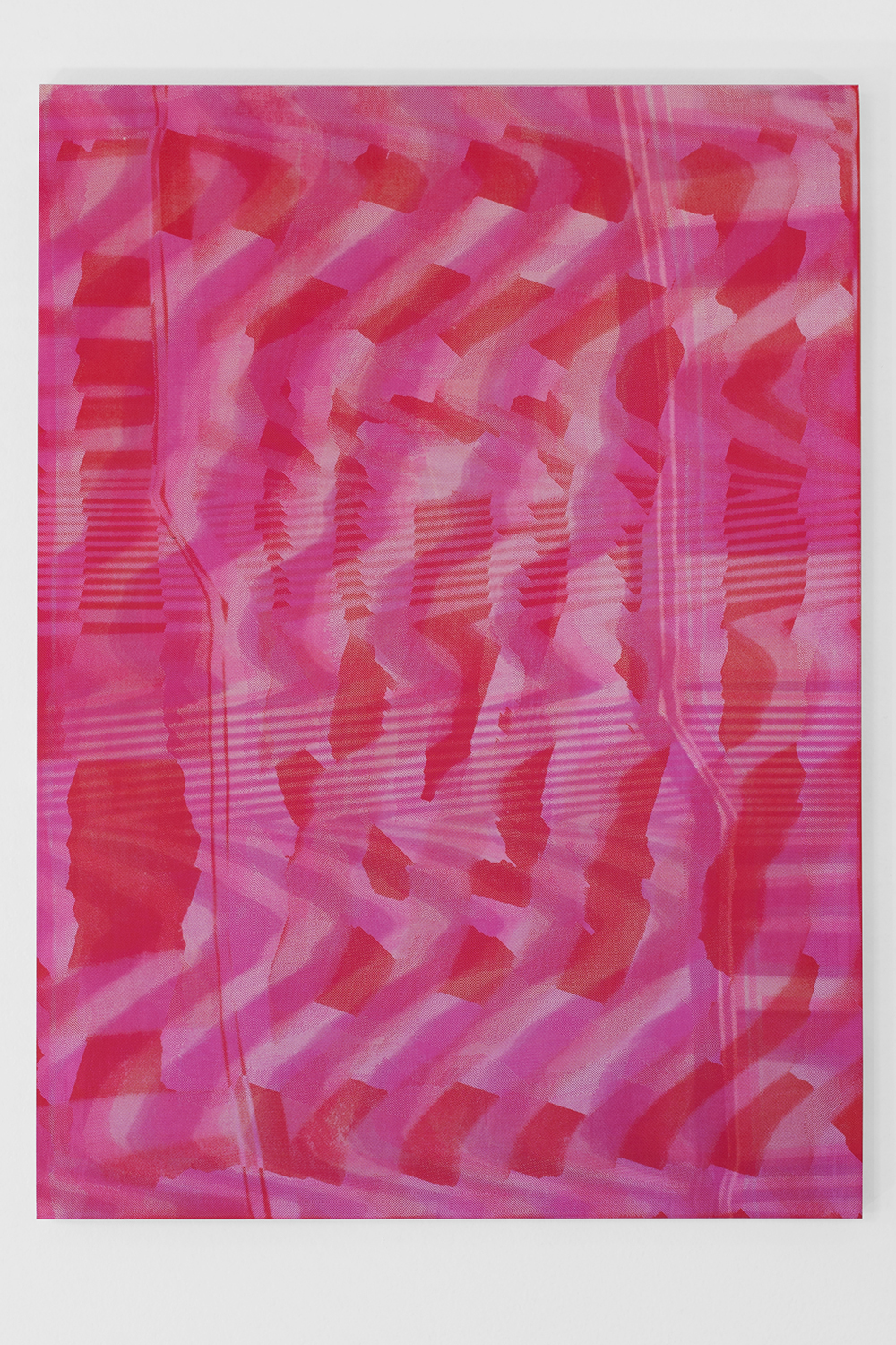 Graham McDougal and Elizabeth Corkery, the Modern Interior  at  Firstdraft , Covering, silkscreen ink and acrylic on panel, 22 x 16.75 inches, 2014