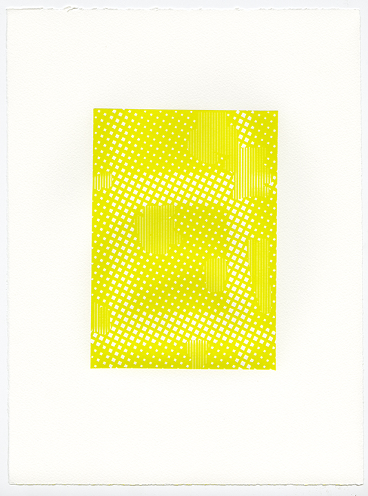 Untitled (AR 265-282 May 81),  letterpress on Somerset textured paper, (color suite including four impressions in black), plate 8.25 x 5.75, paper 15 x 11 inches, 2015