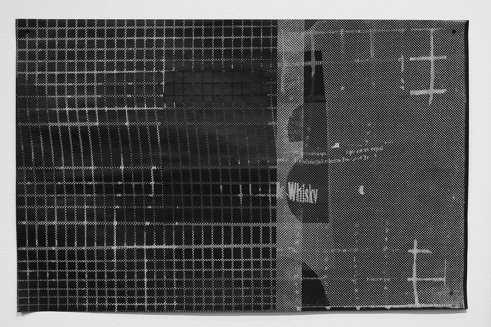 Untitled (F10/22/47),  silkscreen over photocopy and laser-print, 11 x 17 inches 2012