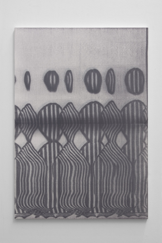 Graham McDougal,  Peasants , 33x23 inches, acrylic, silkscreen, on linen mounted to panel, 2018.