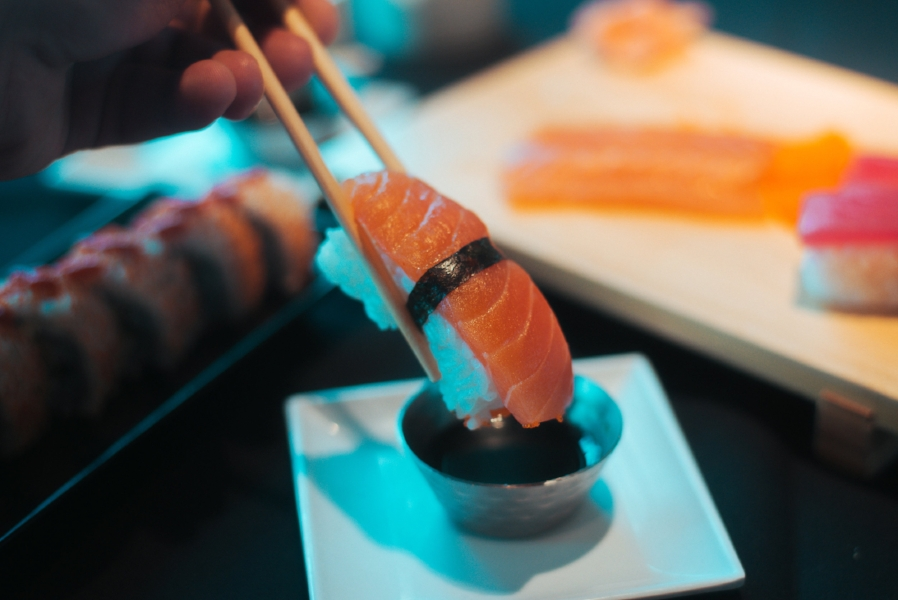 Start off your dining experience with some traditional starters like Nigiri (above) or Sashimi (right).