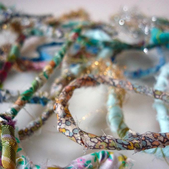 Artiste textile française CAM DUP - Camille Dupuis - fil enrobé