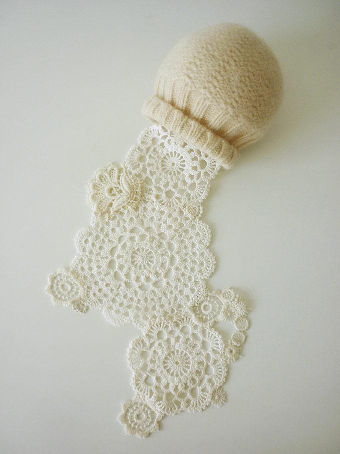 Artiste textile française CAM DUP - Camille Dupuis - lace & felt
