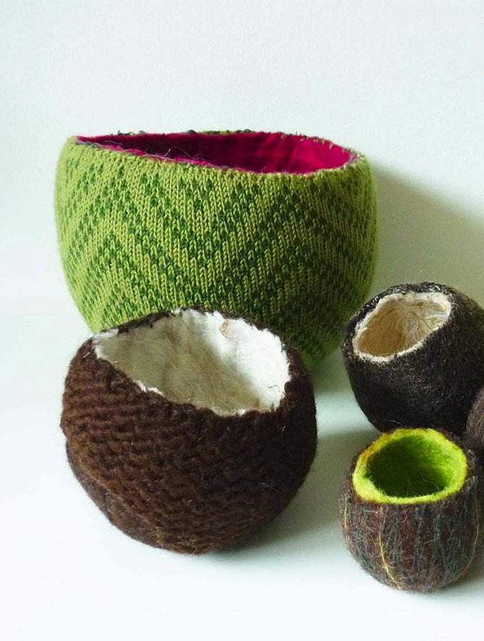 Artiste textile française CAM DUP - Camille Dupuis - felted pots