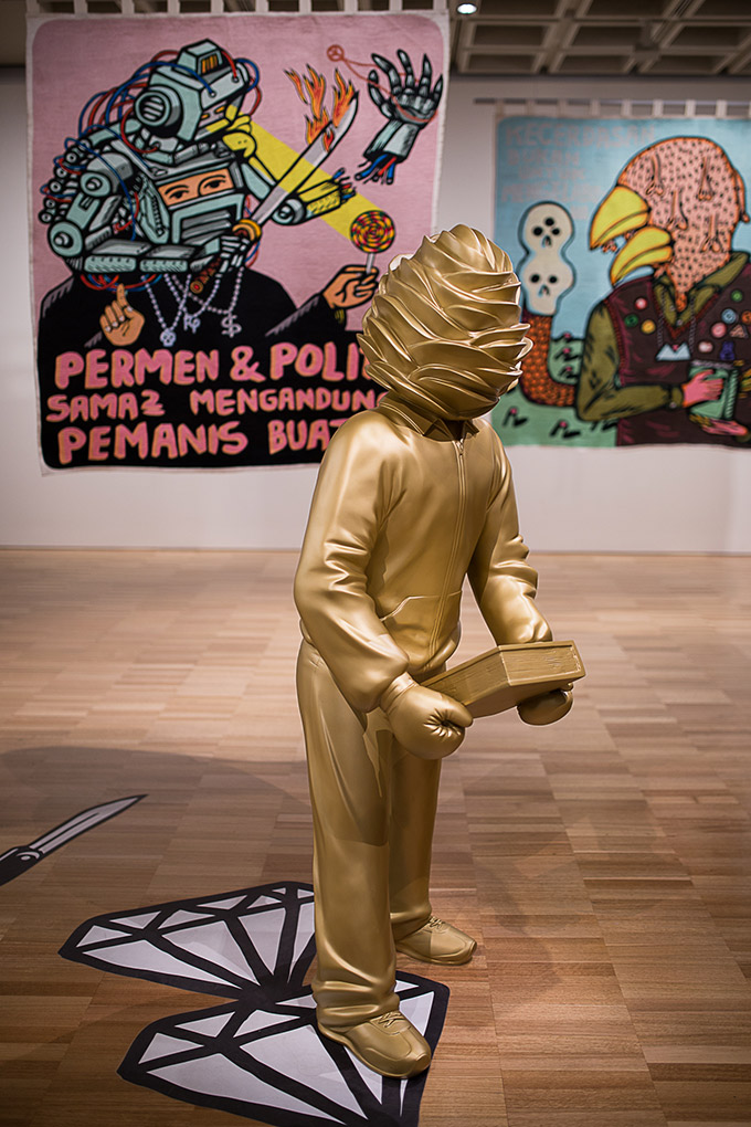 Artiste indonésien Eko Nugroho - Art gallery of NSW - homme choux