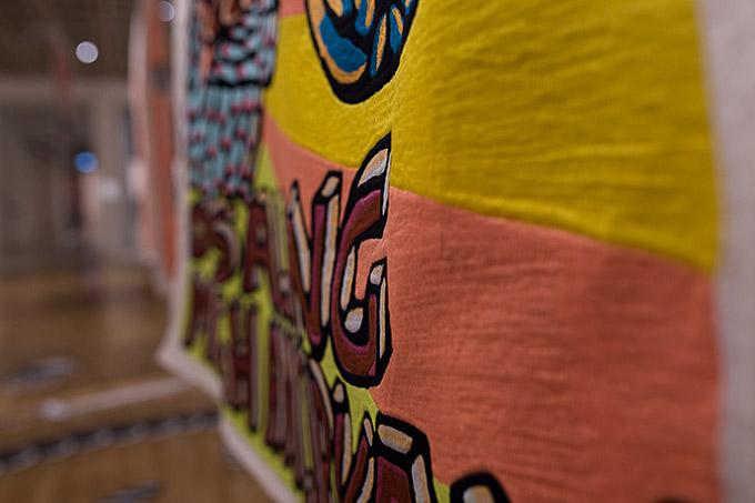 Artiste indonésien Eko Nugroho - Art gallery of NSW - tapisserie