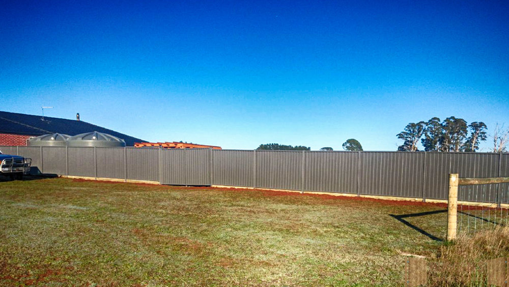 Long Run Colorbond Steel Fence